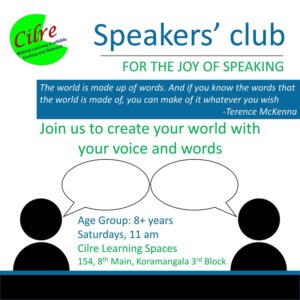 Speakers' Club at Cilre Learning Spaces