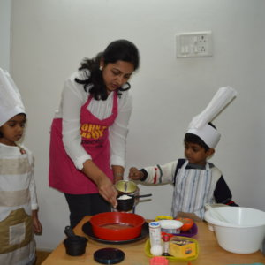 Kids Baking at The Freethinking School