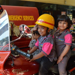 Kids visit the Fire Station