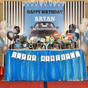 Car Theme Birthday Party Decor by Fiestaa Events