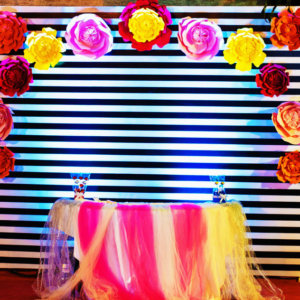 Paper Flower Backdrop by Fiestaa Events