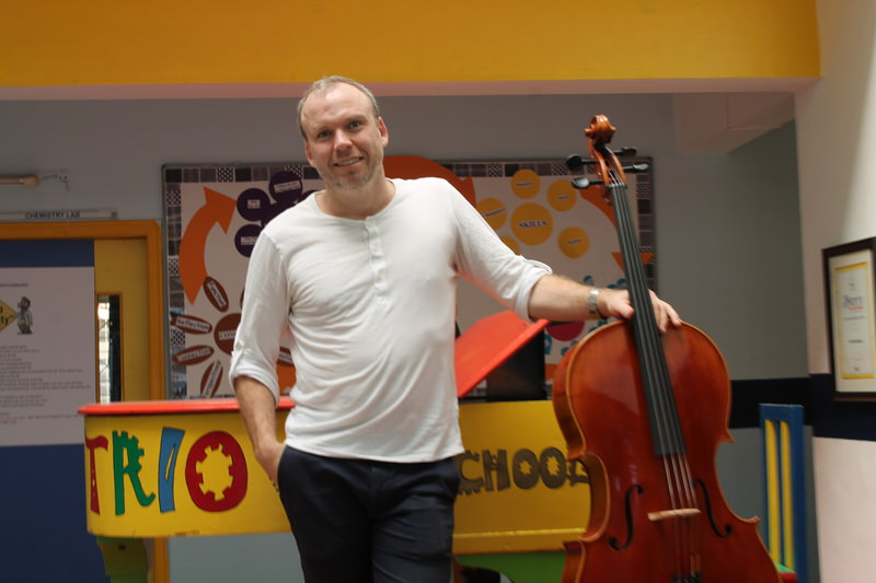 Cello Player at Trio World School