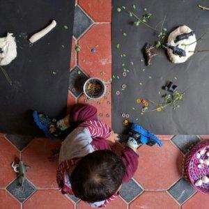Toddlers enjoying Gardening at The Atelier