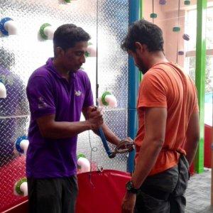 Safety briefing at Clip 'n Climb