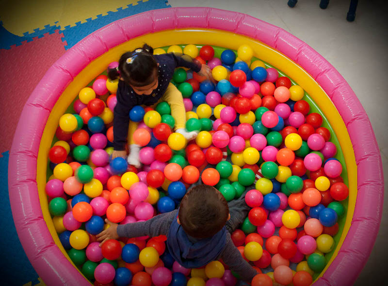 Kids enjoying in the Ball Pool