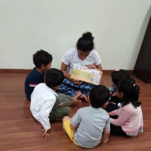 Storytelling session at The Rainbow Villa