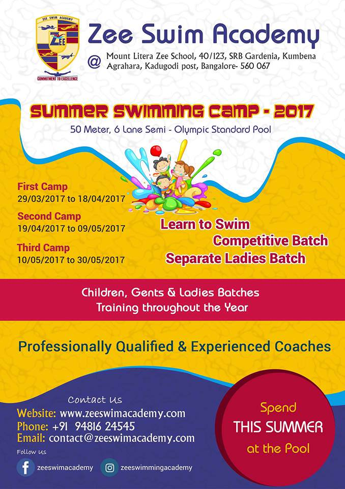 Zee swim academy summer camp kadugodi bangalore - Pool school 123 ...