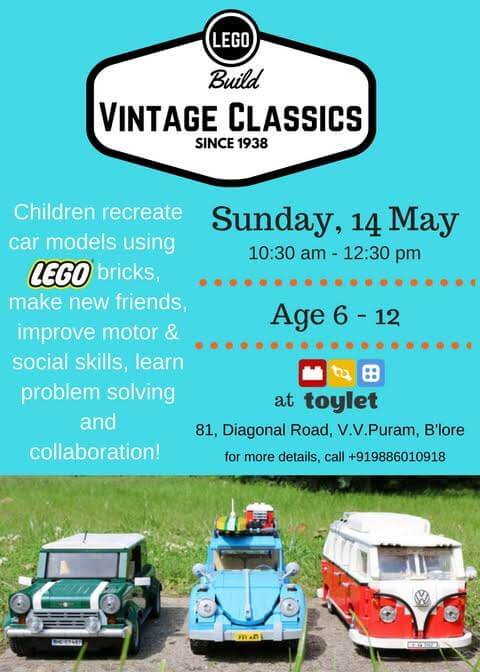 Vintage Cars with LEGO Cover Image