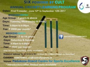Annual Cricket Learning Program