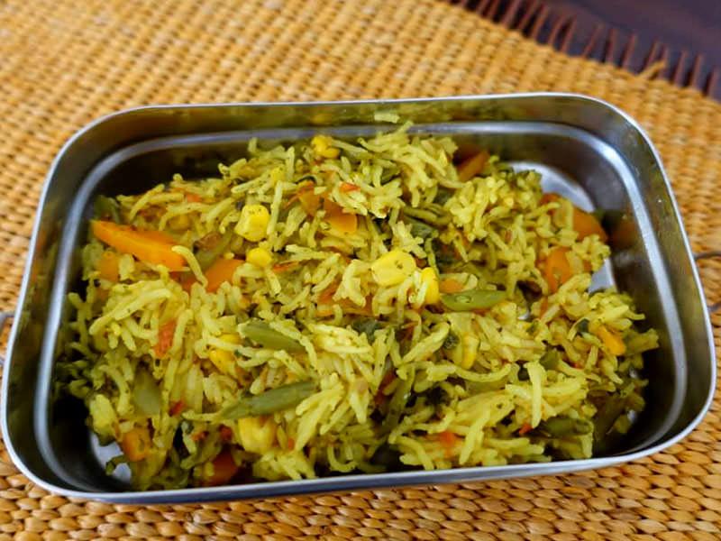 recipe_methi_veg_pulao