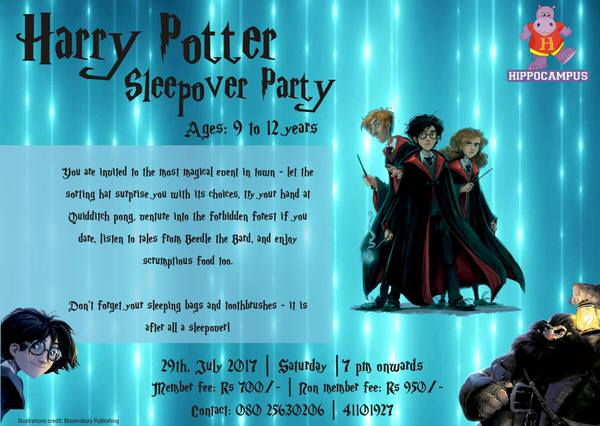 Harry Potter Sleepover Party Cover Image