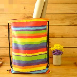Dottedi Rainbow Coloured Drawstring Bag