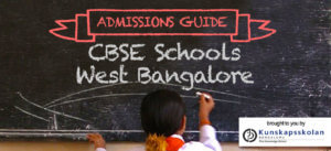 cbse schools in west bangalore