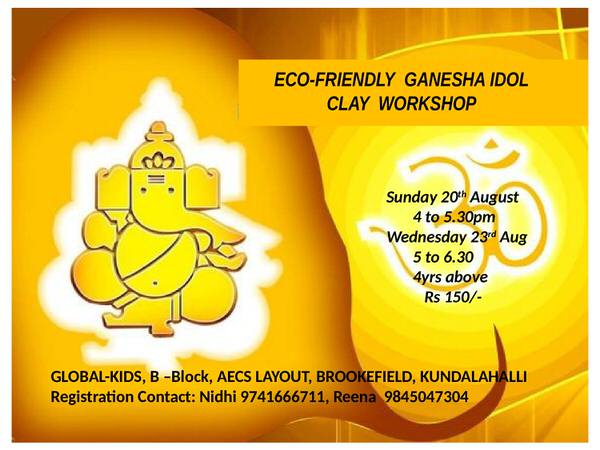 Eco-Friendly Ganesha Idol Clay Workshop Cover Image