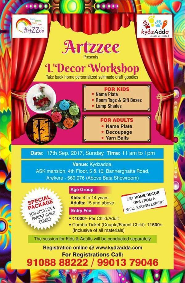 Decor Workshop Bannerghatta Road Bangalore