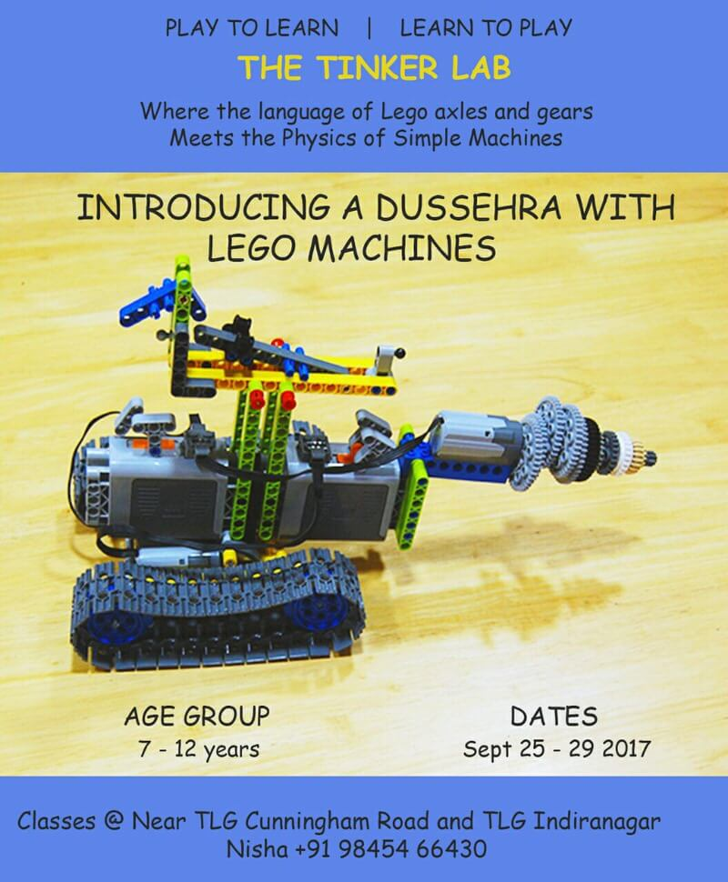 Dussehra with Lego Machines