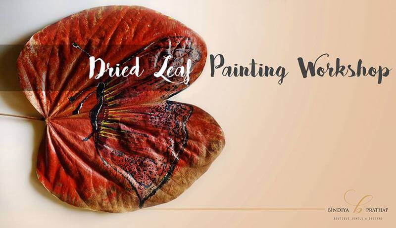 Dried Leaf Painting Workshop Cover Image