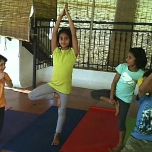 Puraw Vida Yoga tree posture