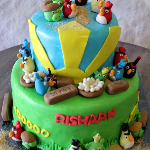 Happy Belly Bakes- Angry Birds theme birthday cakes