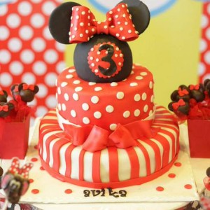 Happy Belly Bakes- Minnie Mouse theme birthday cake