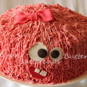 Buttercups- Monster theme birthday cake