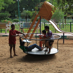 Jayamahal Park- Children's slides, swings, see saw, rides, play areas, parks, open spaces, best parks in Bangalore for kids to enjoy