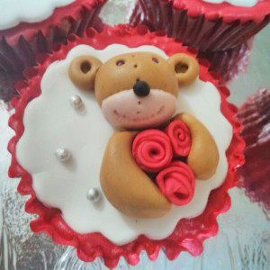 Battered Up- Teddy bear custom cupcake