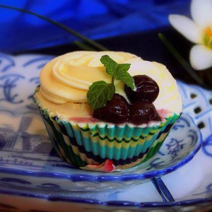 Battered Up- Flower Cupcake