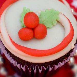 Cupcake Noggins- Buttercream icing cupcake Christmas cake cupcake