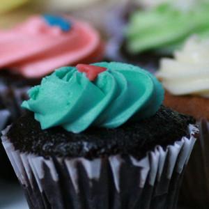 cupcakes, Cupcake Noggins- Buttercream icing cupcake