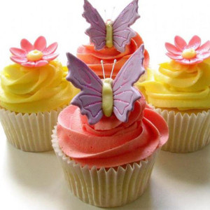 cupcakes, Ms K Cupcakes- Butterfly theme cucpake