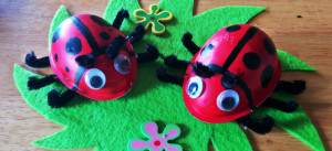ladybird fridge magnet, Aparna Vinod, DIY