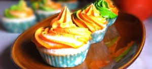 Tricolour eggless lemon cupcakes, Recipes