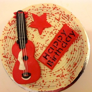 Devi's Cakes N Bakes- Guitar Musical Instrument Birthday cake