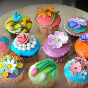 Frosted-Delights-Flower theme Cupcakes