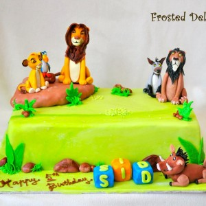 Frosted Delights- Madagascar theme Birthday Cake