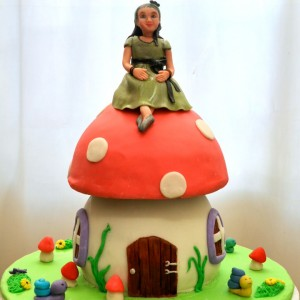 Frosted-Delights-Toadstool theme Birthday Cake