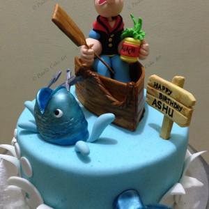 Paaliz Cake Art, BTM Layout, Poppeye theme cake