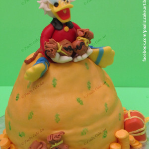 Paaliz Cake Art- Scrooge Duck theme cake
