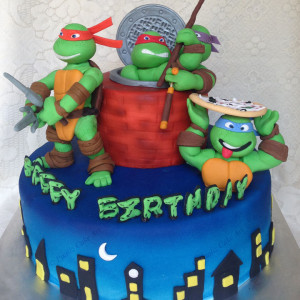 Paaliz Cake Art- Teenage Mutant Ninja Turtles Superhero Boys Birthday Cake