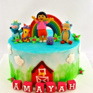 Sweet Petal Cakes, Banashankari, Dora theme cake