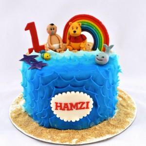 Sweet-Petal Cakes-Winnie the Pooh theme birthday cake
