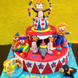 The Cake Lady- Carnival Animal theme birthday cake