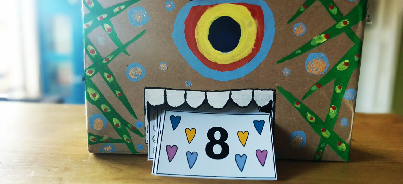 DIY – Number Monster: a fun counting activity for toddlers Cover Image