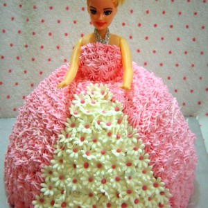 Sweet-Whisk- Barbie theme Birthday Cake