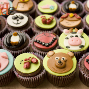 Butter Side Up- Animal cupcake