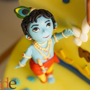 Butter Side Up- Krishna theme cake