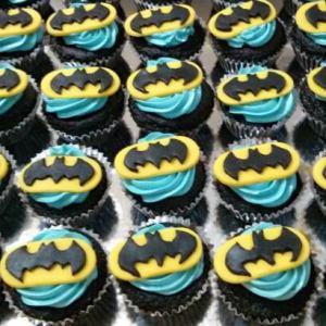 Battered Up- Batman Superhero Cupcake