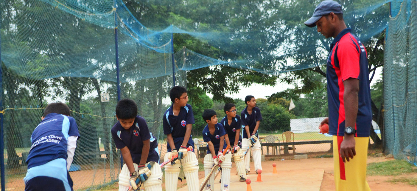 Cricket coaching for children: Bangalore Youth Cricket Academy Cover Image