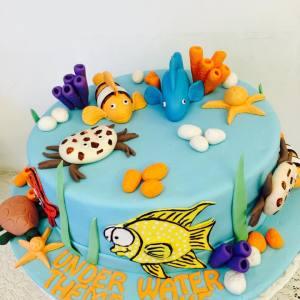 The Cupcake Company- Finding Nemo theme birthday cake